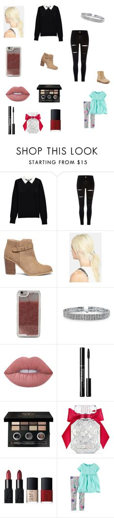 """""""Getting a new family car with Holly"""" by bellzellz ❤ liked on Polyvore featuring Essentiel, River Island, Sole Society, L. Erickson, LMNT, Bling Jewelry, Lime Crime, Bobbi Brown Cosmetics, Victoria's Secret and NARS Cosmetics"""