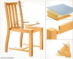 587 Contemporary Dining Chair Plans Furniture Plans And