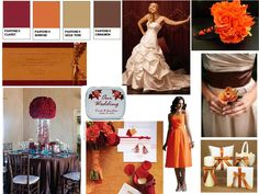 """Summer Sunset Fall Awakening"".. Beautiful fall color wedding inspiration board!"