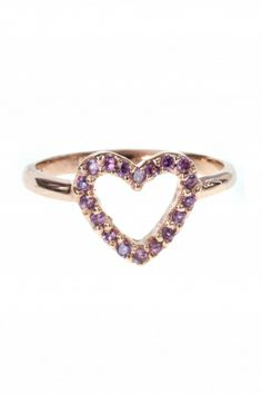 rose gold plated #heart #ring I designed for NEW ONE I NEWONE-SHOP.COM