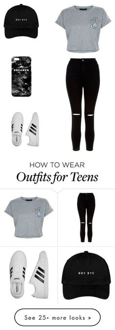 """school"" by kenziemitchel on Polyvore featuring New Look, adidas and Mr. Gugu & Miss Go"