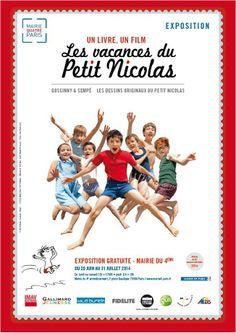 """A l'occasion de la sortie du film""""Les vacances du Petit Nicolas"""", cette exposition mettra en scène le parcours du Petit Nicolas du livre à l'écran."""