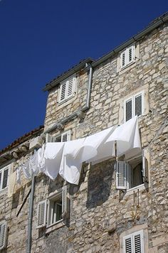 Maestral sea-breeze blowing from the sea towards the land during summer (refreshing)  - Adriatic, Croatia