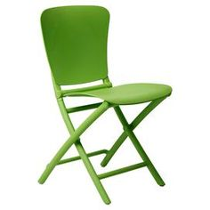 Outdoor folding side chair in lime green.  Product: ChairConstruction Material: Fiberglass and polypropyleneColor: Lime greenFeatures: Foldable for easy storageDimensions: 33.2 H x 17.7 W x 20.3 D
