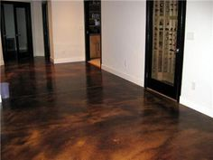 love this finish for concrete floors in basement.