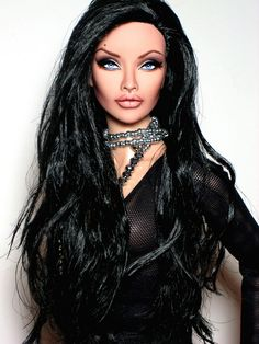 OOAK Fashion Royalty Integrity Angelina Jolie inspired AvantGuard repaint reroot Doll by Claudia