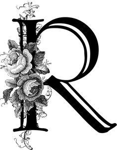 'Vintage Engraved Floral Monogram Letter Q' Sticker by Grafixmom Monogram Wallpaper, R Wallpaper, Letter R Tattoo, Letter Art, Fancy Letters, Flower Letters, Monogram Stickers, Monogram Letters, Calligraphy R