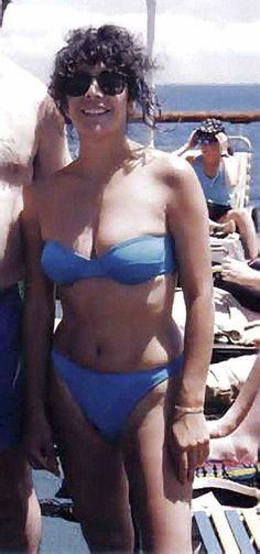 Marina Sirtis in blue bikini British American, American Actors, Deanna Troi, Tv Star, Star Wars, Star Trek Universe, Star Trek Enterprise, Blue Bikini, Sexy Older Women