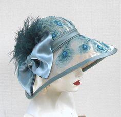 Elaborate Beaded Wide Brimmed Summer Edwardian Cloche Hat