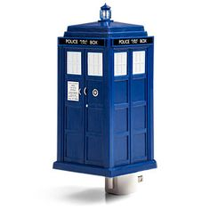TARDIS night light  About the crack in your wall...  Timey-wimey light for bedroom or hallway  Let the Doctor lead you to the bathroom  Discourages nocturnal Dalek attacks