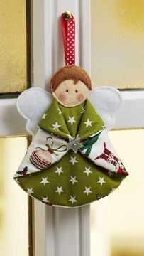 Tree decoration: Sweet angel to sew on - sewing instructions and pattern . - Tree decoration: Sweet angel to sew on – sewing instructions and patterns …, - Diy Christmas Angel Ornaments, Felt Christmas Decorations, Homemade Christmas, Christmas Angels, Christmas Tree Ornaments, Christmas Holidays, Rustic Christmas, Tree Decorations, Christmas Patchwork