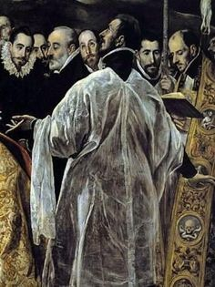 detail from the Burial of the Count of Orgaz by El Greco