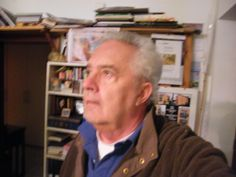 Emo Schuschnig in seinem Atelier in Eichenau