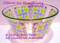 Pasinski Washington Vintage Bowl ..  Large Needle Point Cross Stitch  ... Serving Puddings & More - BlingBlinky.com