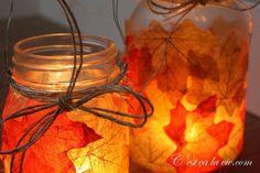 Bricolage lanterne d'Automne