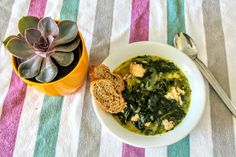 Chicken Fricassee with Spinach & Herbs Chicken Fricassee, Creamed Mushrooms, Palak Paneer, Pesto, Stew, Spinach, Herbs, Main Courses, Whole30