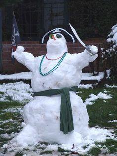 Pirate Snowman...