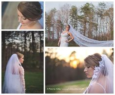 Winter - Spring Bridal Portraits | Central Park King, NC | Winston-Salem Wedding Photographer | A Photo by Ashley