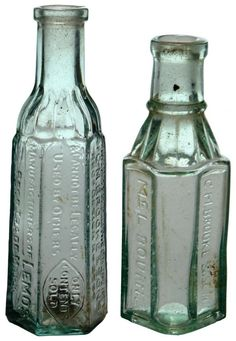 Pair of Sample Cordials: Brookes Lemos and Brooke & Sons, Melbourne. c1910s-1930s