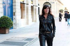 love emmanuelle alt, love her leather