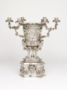 Vase with Candelabrum Branches. Edward Barnard (England, active London, 1785-1861). Rebecca Emes (active England, London, 1808-1828). 1824-1825 Overall height: 34 1/16 in. AMAZING!