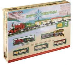 Christmas Train Set Electric Scale Large 15 Piece Track Set Holiday Toy Gift New #BachmannTrains