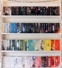 34 Rainbow Bookshelves Ideas Bookshelves Bookshelf Organization Beautiful Bookshelf