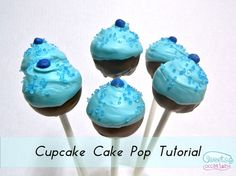 {Sweets Occasions} Cupcake cake pop tutorial