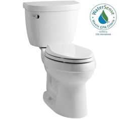 KOHLER Cimarron Comfort Height the Complete Solution 2-piece 1.28 GPF Single Flush Elongated Toilet in White 218