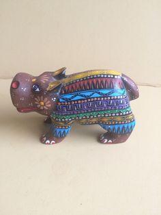 Hippopotamus  ALEBRIJE Oaxaca wood carving