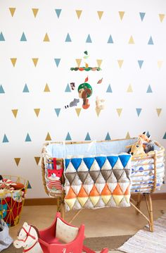 mini triangle stickers from walls by mur