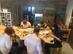Students hard at work in our Sterling Silver Band Ring Workshop yesterday! We had a great time with these students and each one created a different texture on their ring! Register for a workshop via our website of stop in the store soon - classes are filling up! #ingrandview #experiencecolumbus #jewelryclasses #jewelryworkshop #madeincolumbus #thesmithery #grandviewheights #thingstodoincolumbus