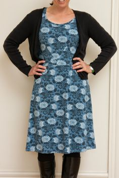 Pattern mash of the Lisette Passport dress and the Lisette Diplomat