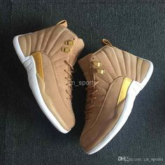 4ed3b993910e03 2018 New jumpman Men Basketball Shoes Cheap Wheat Yellow Suede 12 XII Man  Sneakers Mens 12s Basket ball Athletics Sports Shoes Size 41-47