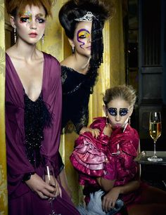 "Here is the Latest editorial of one of our Favorite photographer Erwin Olaf for ELLE Magazine shot at the luxurious Amstel Hotel in Amsterdam. This is where Erwin took photos of an extravagant party with glamorous people in just-as-glamorous costumes. The story is entitled ""Lof der Zotheid"", or in English ""The Praise of Folly"" after the most well-known work by Dutch author Erasmus."