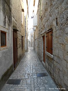 One of the medieval streets of Trogir, Croatia.