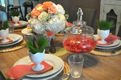 Donna Sawyer Wow » EASTER TABLESCAPE: Happy Spring