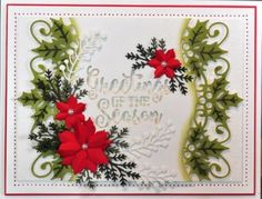 Creative-Expressions-Sue-Wilson-Die-POINSETTIA-AND-HOLLY-GEMINI-CED3062-Festive