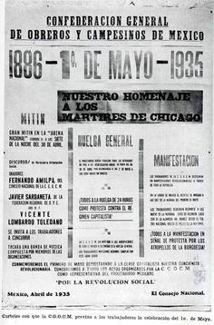 Cartel de la CGOCM c