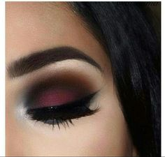 VERT DE MAR, CHERRY RED and BURNT ORANGE Smokey eye