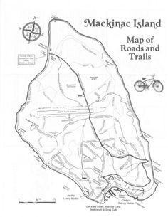 Mackinac Island hiking-trail-map