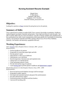 nursing assistant cover letter samples 12 no work experience resume example sample resumes - Sample Resume For Nursing Assistant