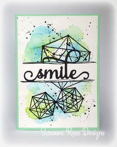 Susanne Rose - Papierkleckse: Smile - Card with Visible Image Stamps