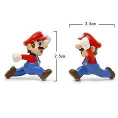 Super Mario Bros Mini Action Figure Toys Yoshi PVC Toy for Kids Children Gift #Unbranded