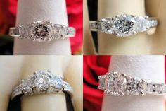 0.92CT Round Brilli Diamond Engagement Ring Cert/Appr $3k