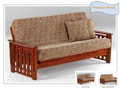 Full Size Twilight Premium Wood Futon Bed Package by Night & Day