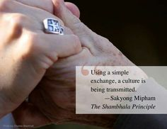 Using a simple exchange a culture is being transmitted