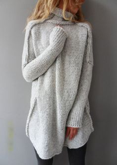 Solid Long Sleeve Casual Sweater - Fairyseason