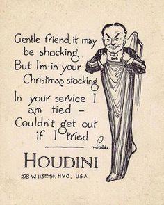 Houdini Christmas card to SAM members