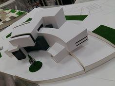 Maquette Architecture, Architecture Model Making, Types Of Architecture, Concept Architecture, Modern Architecture, Hospital Architecture, Library Architecture, Hospital Design, Arch Model